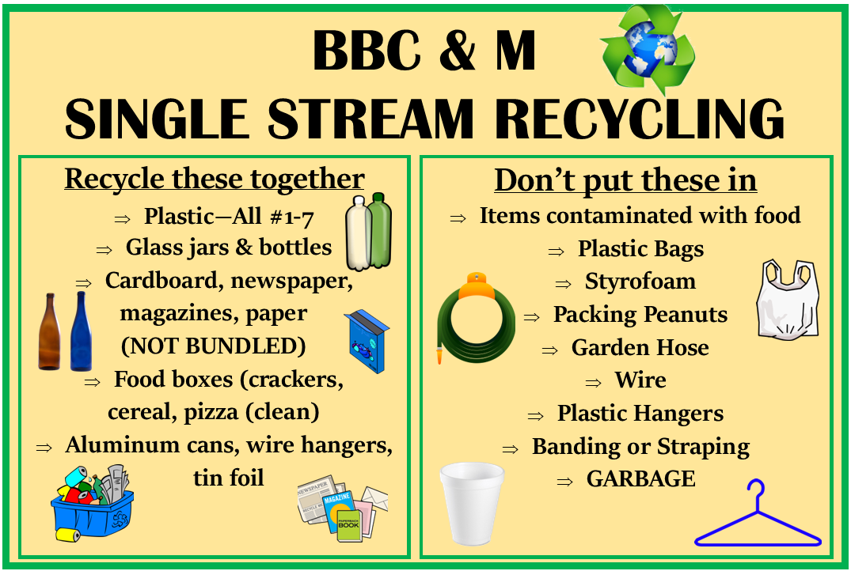 BBC&M Recycling Center Single Stream Recycling